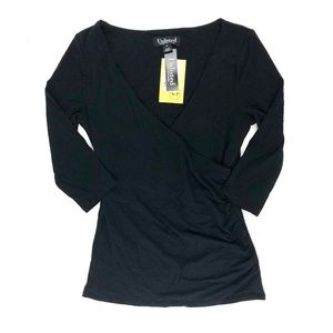 Unlisted by Kenneth Cole black crossover top